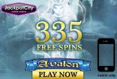335 free spins Avalon