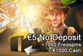 LVBET 1000 free spins sign up offer