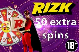 50 extra spins Rizk