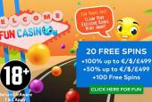 20 free spins fun casino nodeposit