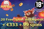 maneki casino bonus with 119 free spins